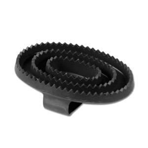 Gummistriegel in schwarz
