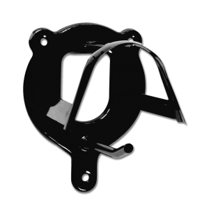 Trensenhalter aus Metall in schwarz
