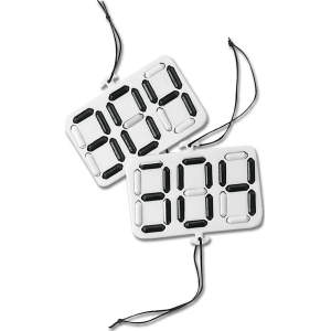 Kopfnummern Digital in weiß