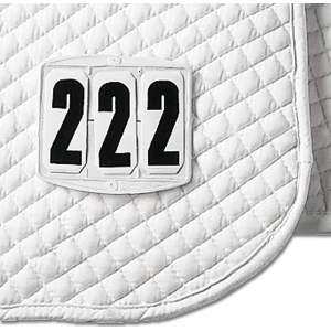 Startnummern für die Schabracke, eckig in weiß