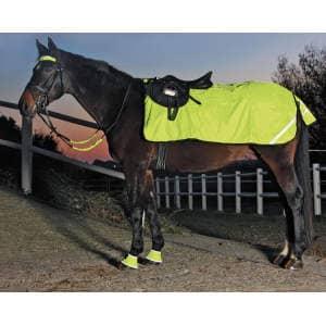 Ausreitdecke Reflex Fleece in neon-gelb, Größe: WB