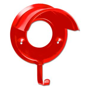 Trensenhalter Metall in rot