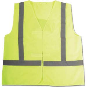 Weste Reflex für Kinder in neon gelb