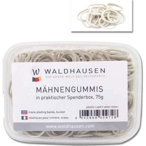 Waldhausen - Mähnengummis in Spenderbox in weiß