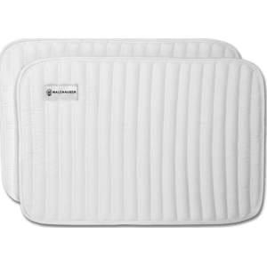 Bandagierunterlagen Frottee hinten in weiß
