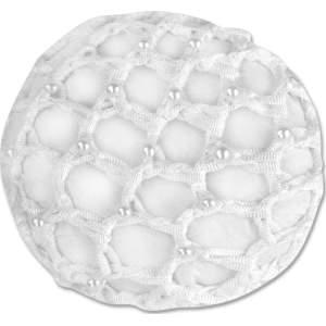 Haarnetz mit Perlen in weiß (VE2)