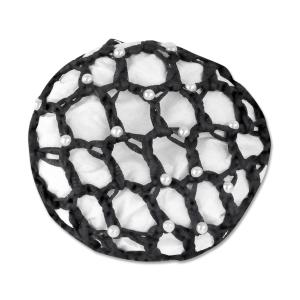 Haarnetz mit Perlen in schwarz (VE2)