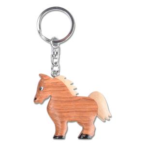 Schlüsselanhänger Holz Pferd
