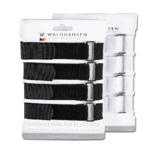 Bandagenhalter elastisch, 4er Set in schwarz