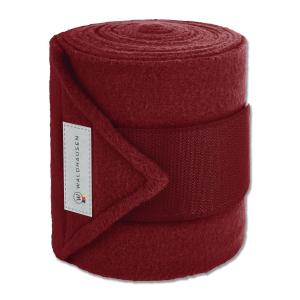 Fleecebandage Esperia, 4er Set in rubinrot