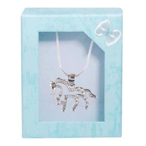 Halskette mit Anhänger Pferd
