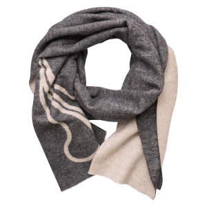 Schal ES-Luxurious in Black-Cement Melange