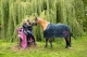Thumbnail Bandagen: Bandagen Fleece Pony (Young Star ltd.) in navy stars, Größe: One Size 4060795829763 von Eskadron