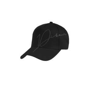 Cap Damen Lurex Stickerei in schwarz
