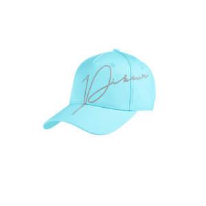 Cap Damen Lurex Stickerei in aquamarine
