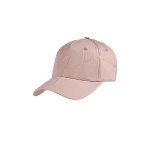 Cap Damen Lurex Stickerei in rose