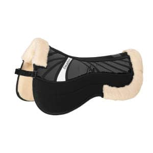 Satteldecke Mesh Evo-Wool Pad in schwarz
