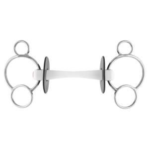 Nathe 3-Ring Gebiss 20 mm mit biegsamer Stange