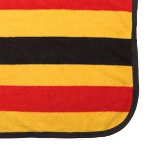 Fleece-Abschwitzdecke Primus in gelb-rot-schwarz