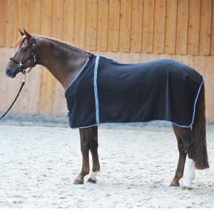 Abschwitzdecke Fleece in schwarz