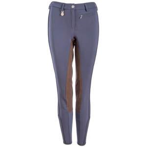 Damen-Winterreithose Lucinda Softshell Kontrast in nachtblau-schoko