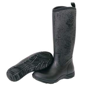 Stiefel Arctic Adventure Croco in schwarz