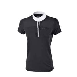 Turniershirt Damen Ebony in schwarz