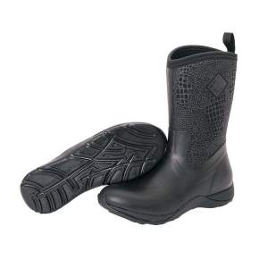 Stiefel Arctic Weekend Croco in schwarz
