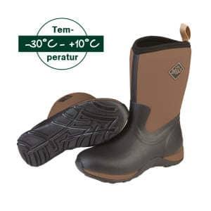 Stiefel Arctic Weekend Solid in schwarz-braun
