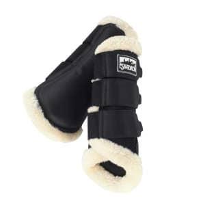 Gamaschen Tendon Boots Soft Mesh Faux Fur in schwarz