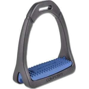 Steigbügel Premium Light in schwarz/brillantblau