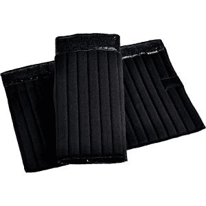 Bandagierunterlagen Klett Glitter in schwarz/schwarz