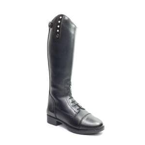 Kinder-Lederreitstiefel Laceboot Smart Bling in black