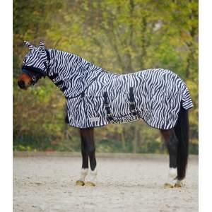 Fliegendecke Zebra in schwarz/weiß