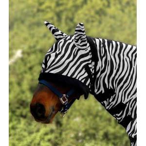 Fliegenmaske Zebra in schwarz/weiß
