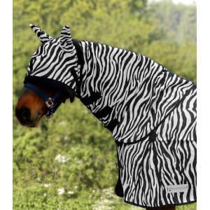 Halsteil Zebra in schwarz/weiß
