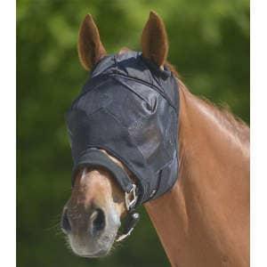 Fliegenmaske Premium ohne Ohrenschutz in schwarz