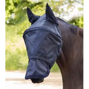 Fliegenmaske Premium Space mit Ohren- und Nasenschutz in schwarz