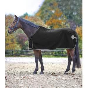 Fleece- und Sponsordecke, schwarz/silber