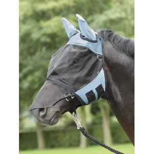 Fliegenmaske Fly Cover Pro in hellblau/schwarz