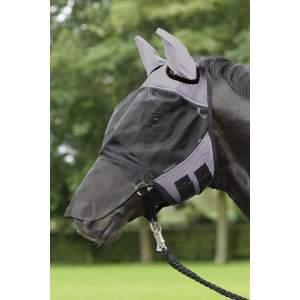 Fliegenmaske Fly Cover Pro in grau/schwarz
