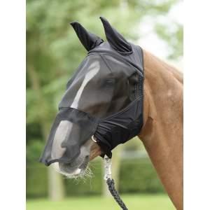 Fliegenmaske Fly Buckler Plus in schwarz
