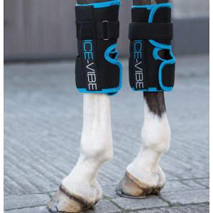 Ice-Vibe HW Knee Wrap in Black/Aqua