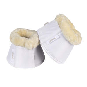 Hufglocken Fauxfur in weiß