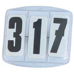 Startnummern eckig, 3-stellig in weiß