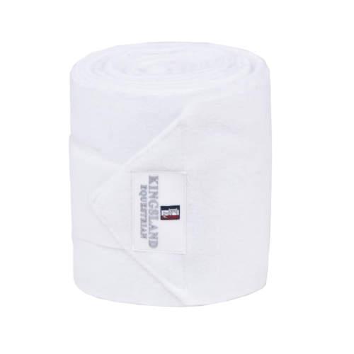 Kingsland - Fleecebandagen Draco, 2er-Pack in white