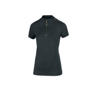 Zip Shirt Damen Linee in dark green