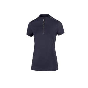 Zip Shirt Damen Linee in navy