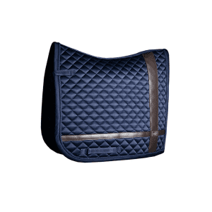 Dressurschabracke Leather Deluxe in navy blue in Full