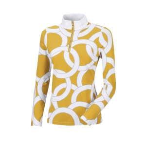 Sweater Damen Belli  HW21 in Collar white, Print vintage gold/grey